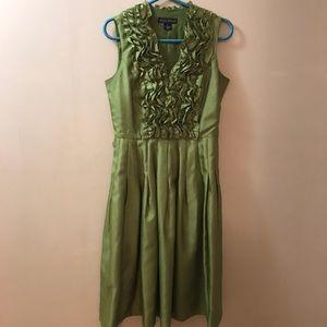 Olive Green Ruffle Dress